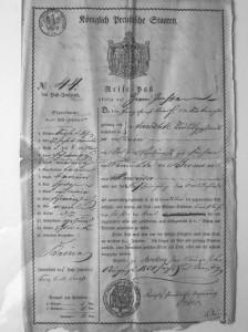 1836 FranzErnstBrass Reise-Pass